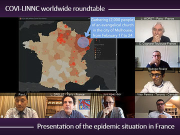 COVI-LINNC worldwide roundtable: Presentation of the epidemic situation in France